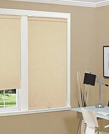 """Cordless Linen Look Thermal Fabric Roller Shade, 34""""x66"""""""