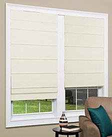 "Cordless Texture Look Room Darkening Fabric Roman Shade, 27""x 64"""