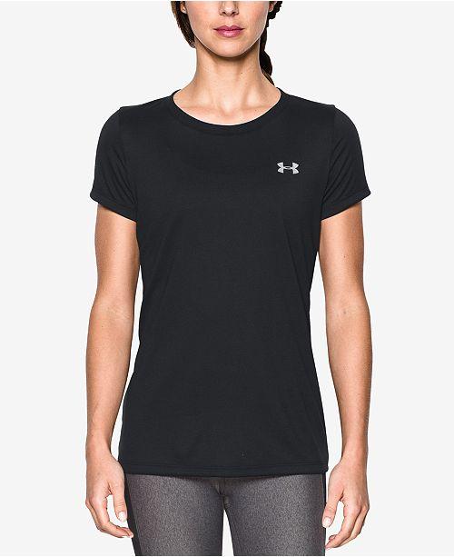 rond Under a col T Armour commentaires Tops shirt ™ et Femme Noir Tech BoeWrCdx