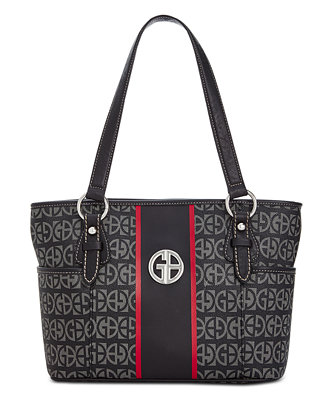 Block Signature Stripe Tote, Created For Macy's by Giani Bernini