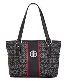Giani Bernini Block Signature Stripe Tote, Created for Macy's