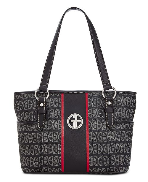 3b47463dcee9e Giani Bernini Block Signature Stripe Tote