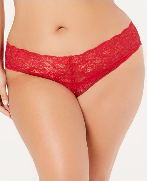 9338865e29 ... Cosabella Women s Plus Size Never Say Never Lace Thong NEVER0325P ...