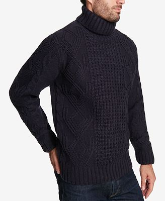 Weatherproof Vintage Mens Chunky Knit Turtleneck Sweater Sweaters