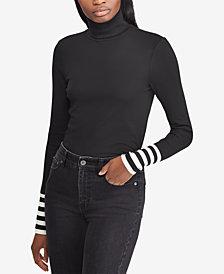 Lauren Ralph Lauren Striped Turtleneck Top