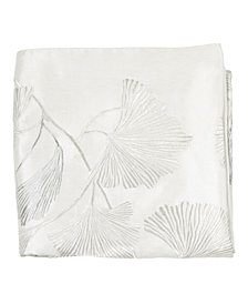 Michael Aram Ivory Ginkgo Leaf Ginkgo Beaded Throw