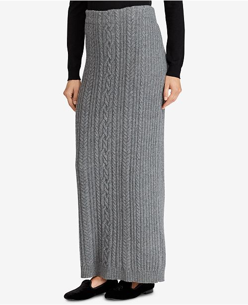 4cd89cb1c1 Lauren Ralph Lauren Cable-Knit Maxi Skirt & Reviews - Skirts - Women ...