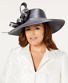 August Hats Rhinestone Satin Stripe Hat