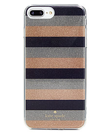 kate spade new york Glitter Stripe iPhone 8 Plus Case
