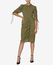 INSPR x Natalie Off Duty Ruched Front Dress, Created for Macy's