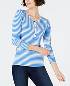 Charter Club Petite Henley Shirt, Created for Macy's