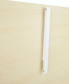 Mind Reader Collapsible Open Hanger Rack, Wall Mounted Clothing Holder, White