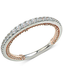 Diamond Two-Tone Anniversary Band (1/4 ct. t.w.) in 14k White & Rose Gold