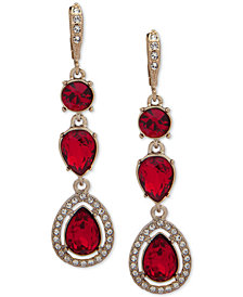 Givenchy Stone & Crystal Halo Drop Earrings