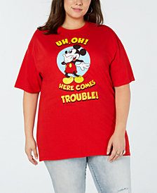 Mad Engine Plus Size Cotton Mickey Mouse T-Shirt