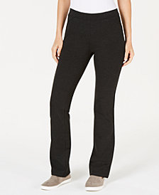 Style & Co Ponté-Knit Bootcut Pants, Created for Macy's