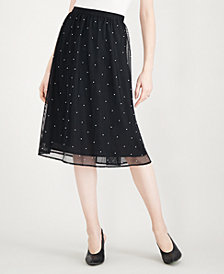 Maison Jules Tulle Imitation-Pearl Skirt, Created for Macy's