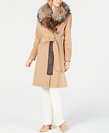 1 Madison Expedition Fox-Fur-Collar Walker Coat