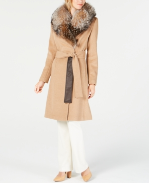 Image of 1 Madison Expedition Fox-Fur-Collar Walker Coat