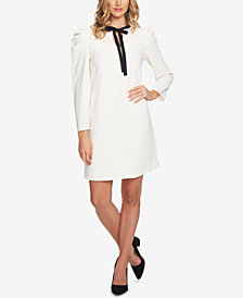 CeCe Front-Tie A-Line Dress
