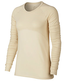 Nike Pro Warm Colorblocked Mock-Neck Top