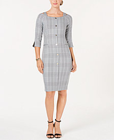 Ivanka Trump Plaid Shift Dress