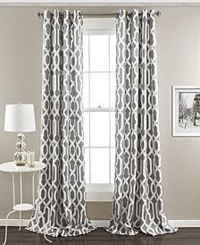 "Edward Trellis 95"" x 52"" Room Darkening Window Curtain Set"