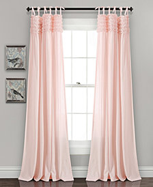 "Lydia Ruffle 84""x40"" Window Curtain Panels Set"