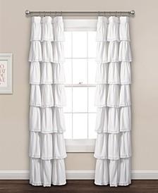"Lace Ruffle 52"" x 84"" Window Curtain Panel"