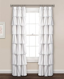 "Lace Ruffle 84""x52"" Window Curtain Panel"