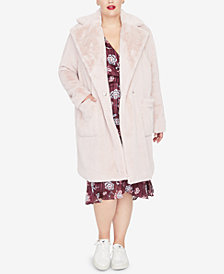 RACHEL Rachel Roy Trendy Plus Size Faux-Fur Jacket