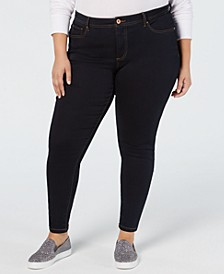 INC Plus Size Tummy Control Beyond Stretch Skinny Jeans, Created for Macy's