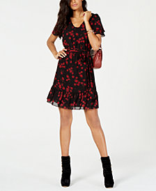 MICHAEL Michael Kors Floral-Print A-Line Dress in Regular & Petite Sizes