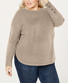 One A Plus Size Drop-Shoulder Sweater