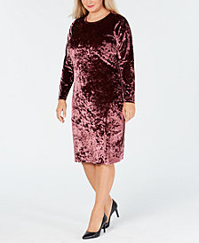 MICHAEL Michael Kors Plus Size Crushed Velvet Sheath