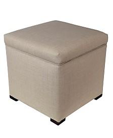 MJL Furniture Designs Tami Upholstered Square Storage Ottoman