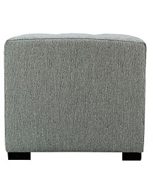 MJL Furniture Designs Merton Button Tufted Upholstered Square Ottoman