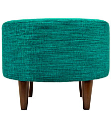 Sophia Lucky Round Upholstered Ottoman
