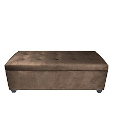 MJL Furniture Designs Sole Secret Diamond Tufted Shoe Storage Bench