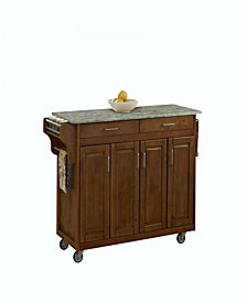 Home Styles Oak Create-a-Cart with Concrete Top