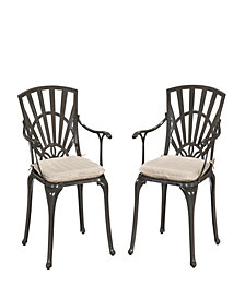 Home Styles Largo Dining Chair Pair w/ Cushions