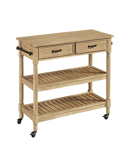 Savannah Natural Kitchen Cart