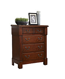 Home Styles The Aspen Collection Rustic Cherry Drawer Chest