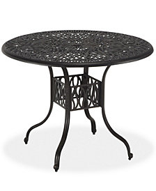 Home Styles Floral Blossom 42-Inch Charcoal Round Dining Table