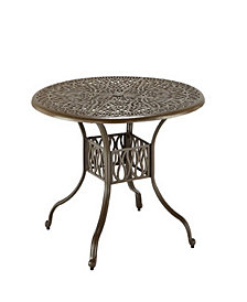 Home Styles Floral Blossom 42 Inch Taupe Round Dining Table