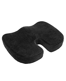 Aurora Black Memory Foam Coccyx Seat Cushion