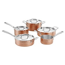 Cuisinart Hammered Collection Copper Tri-Ply 9 Piece Cookware Set