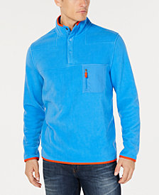 Club Room Men's Fleece Mock-Collar, Created for Macy's