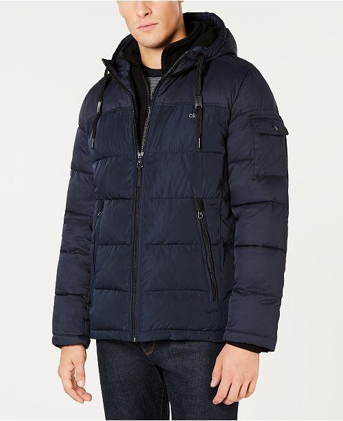 Calvin Klein  Men's Hooded Puffer Jacket
