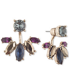 Marchesa Gold-Tone Stone Front & Back Earrings